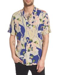 AllSaints - Fuyugi Regular Fit Short Sleeve Sport Shirt - Lyst