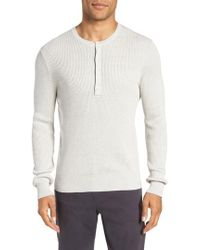 Vince - Ribbed Henley - Lyst