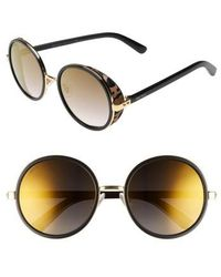 Jimmy Choo | Andiens 54mm Round Sunglasses | Lyst