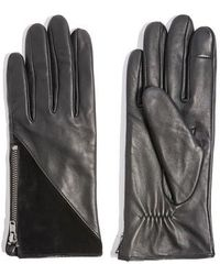 TOPSHOP - Core Leather Gloves - Lyst