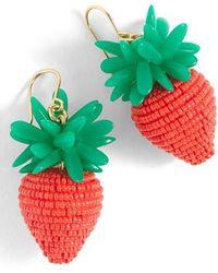 J.Crew - Strawberry Earrings - Lyst