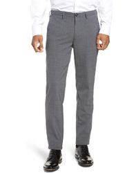 BOSS - Kaito Slim Fit Wool Trousers - Lyst