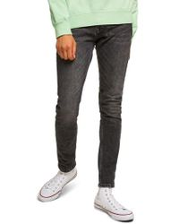 TOPMAN - Washed Skinny Fit Jeans - Lyst