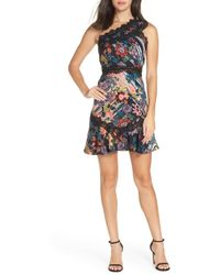 Foxiedox - Retro Flowers One-shoulder Party Dress - Lyst