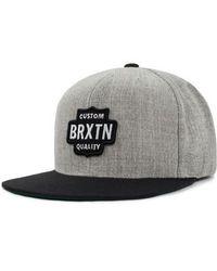 Brixton - Garth Flat Brimmed Cap - - Lyst