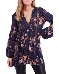 Free People - Just The Two Of Us Floral Tunic - Lyst
