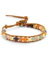 Chan Luu - Stone & Crystal Leather Bracelet - Lyst