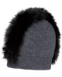 Charlotte Simone - Mo Mohawk Cashmere Beanie With Genuine Fox Fur Trim - - Lyst