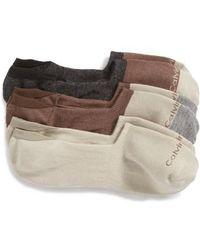 Calvin Klein - 3-pack No-show Socks, None - Lyst