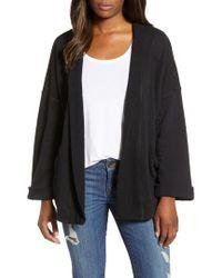 Caslon - Caslon Off-duty Roll Sleeve Cotton Blend Jacket - Lyst