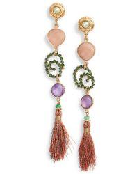 Gas Bijoux - Semiprecious Stone Drop Earrings - Lyst