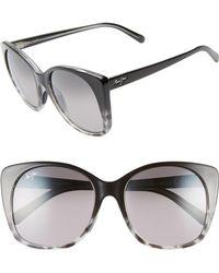 Maui Jim - Mele 55mm Polarizedplus2 Round Cat Eye Sunglasses - - Lyst