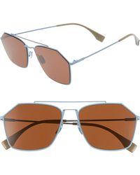 Fendi - 59mm Navigator Sunglasses - - Lyst