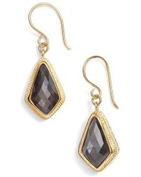 Anna Beck   Grey Sapphire Kite Earrings   Lyst