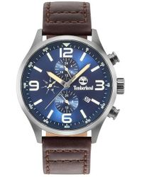 Timberland - Rutherford Multifunction Leather Strap Watch - Lyst