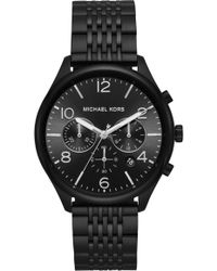Michael Kors - Merrick Black-tone Watch - Lyst