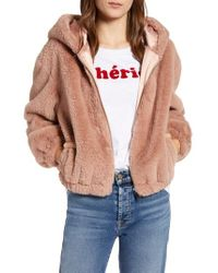 French Connection - Arabella Faux Shearling Jacket - Lyst