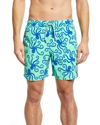 f813bfb2a3 Mollusk Wave Pattern Board Shorts in Orange for Men - Lyst