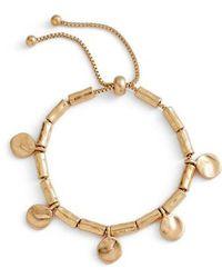 Treasure & Bond - Organic Summer Metals Sliding Disc Bracelet - Lyst
