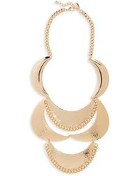 Natasha Couture - Metal Statement Necklace - Lyst