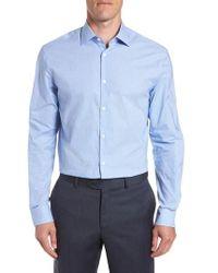 John Varvatos - Microcheck Regular Fit Dress Shirt - Lyst