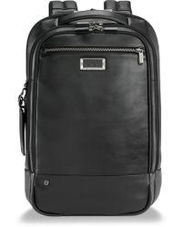 Briggs & Riley - Medium Leather Rfid Pocket Laptop Backpack - - Lyst