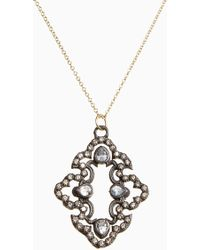 Armenta - Old World Diamond Scroll Pendant Necklace - Lyst