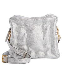Anya Hindmarch - Chubby Cube Crinkled Metallic Leather Crossbody Bag - - Lyst
