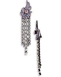 Ashley Williams - Away Fall Crystal Earrings - Lyst