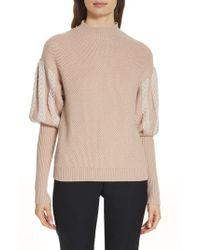 Jonathan Simkhai - Knit Puff Sleeve Sweater - Lyst