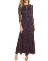 Pisarro Nights - Sequin Mesh Gown With Jacket - Lyst