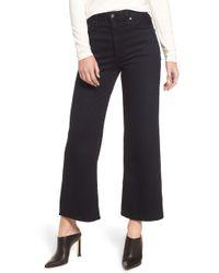 AG Jeans - Etta High Waist Crop Wide Leg Jeans - Lyst