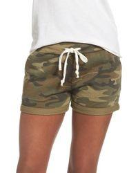 Alternative Apparel - Camo Lounge Shorts - Lyst