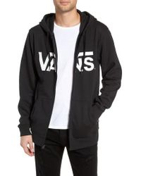 8ea9eb4ea4 Lyst - Vans Core Basics Colorblock Pullover Hoodie in Black for Men