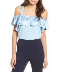 Lost Ink - Ruffle Camisole - Lyst