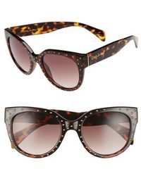 Circus by Sam Edelman - 70mm Studded Cat Eye Sunglasses - Lyst