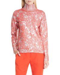 HUGO - Sheneen Marbled Metallic Sweater - Lyst