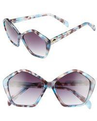 Draper James - 57mm Gradient Lens Geometric Sunglasses - Lyst