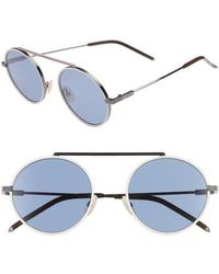 19a3abad0e Lyst - Tom Ford Aviator Sunglasses Tf341 Miles 14v Ruthenium black ...