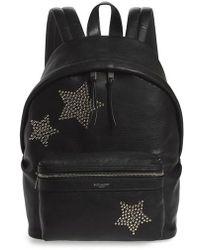 Saint Laurent - Mini City Stars Leather Backpack - - Lyst