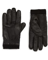 Barbour Quilted Leather Gloves in Black for Men | Lyst : barbour quilted gloves - Adamdwight.com