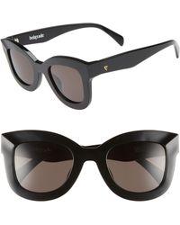 Valley Eyewear - Belgrade 48mm Cat Eye Sunglasses - Gloss Black - Lyst