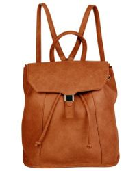 Urban Originals - Foxy Vegan Leather Flap Backpack - Lyst