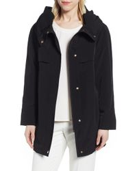 Gallery - Pleated Collar A-line Water Repellent Raincoat - Lyst