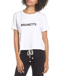 BRUNETTE the Label - Brunette Crop Tee - Lyst