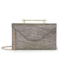 M2malletier | Annabelle Metallic Calfskin Leather Clutch - Metallic | Lyst