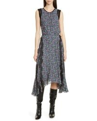 Jason Wu Confetti Lace Shark Bite Hem Dress - Black