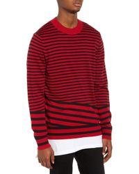 The Rail - Asymmetrical Stripe Longline Sweater - Lyst