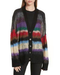 N°21 - N Degree21 Stripe Mohair & Wool Blend Cardigan - Lyst