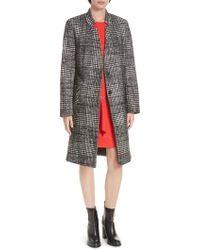 HUGO - Magrete Bold Check Stretch Cotton Wool Coat - Lyst